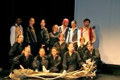 The cast of Philoktetes, Classics Play 2013