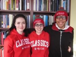 Members of the exec wearing CSA apparel, 2015