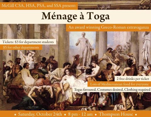 Menage a Toga - Oct. 24, 2015